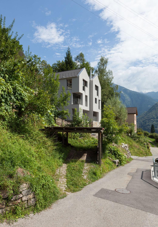 West-North facade Alexandre Zveiger, Lugano CH