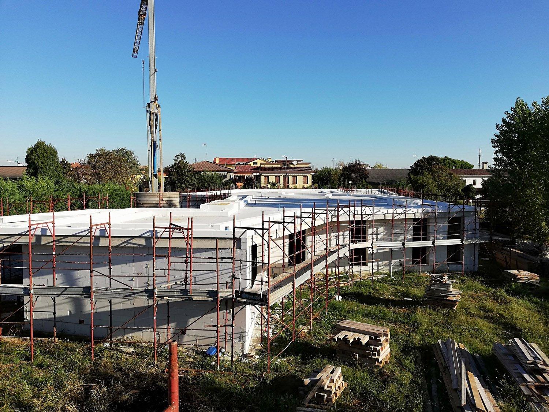 Vista dall'alto globale dell'intervento in corso di costruzione 3ndy Studio