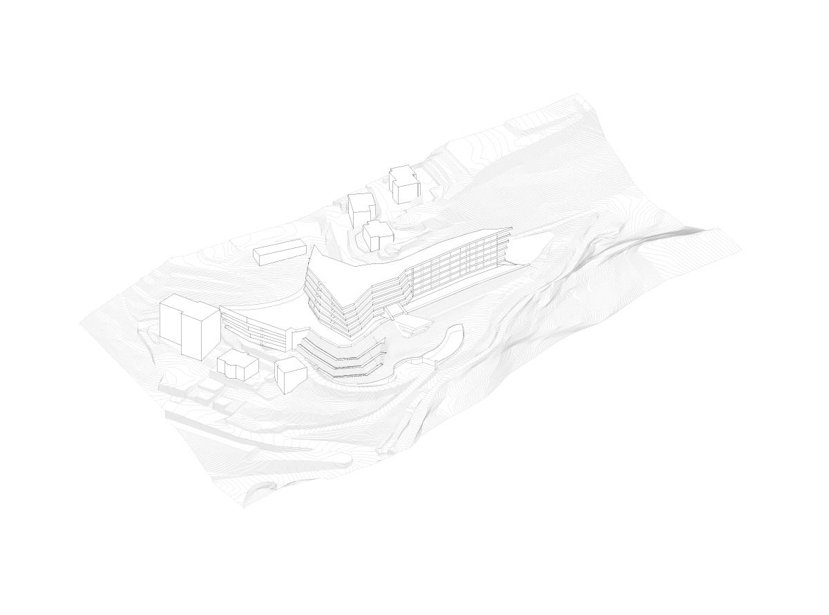 Modello tridimensionale di progetto Mino Caggiula Architects}
