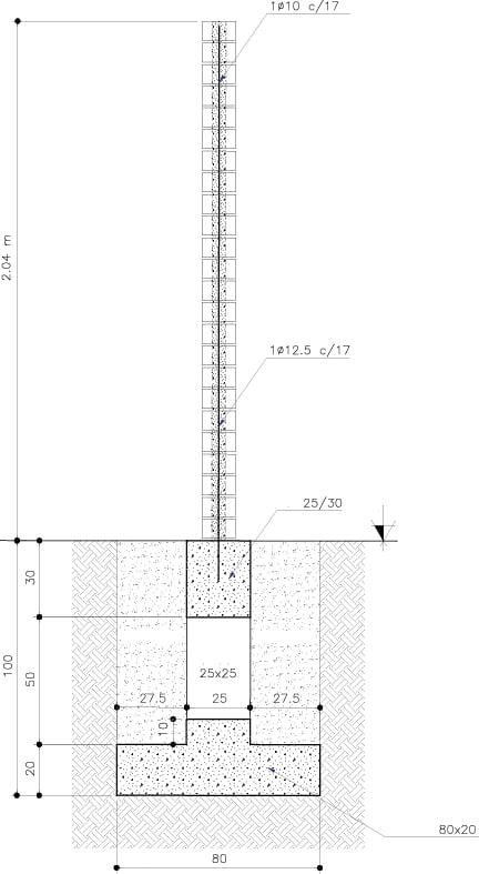 Solid bricks wall detail studiomk27}