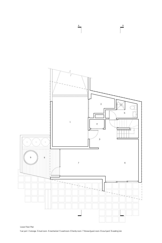 Lower Floor Plan Leckie Studio Architecture + Design}