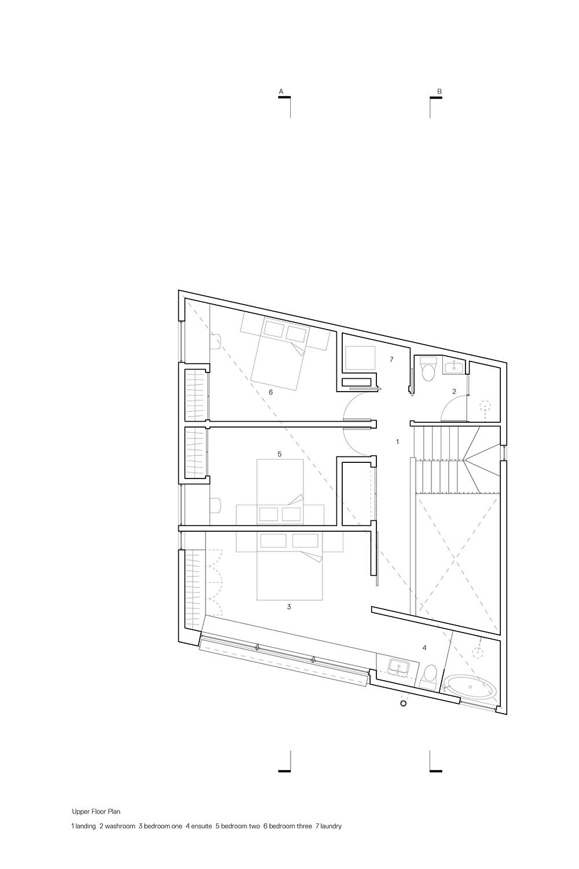 Upper Floor Plan Leckie Studio Architecture + Design}