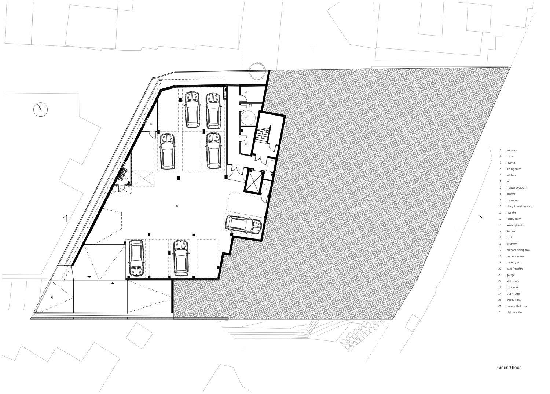 Ground storey level Forte Architetti}