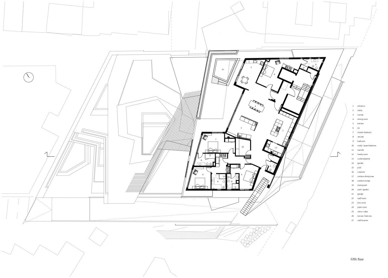 Fifth storey level Forte Architetti}