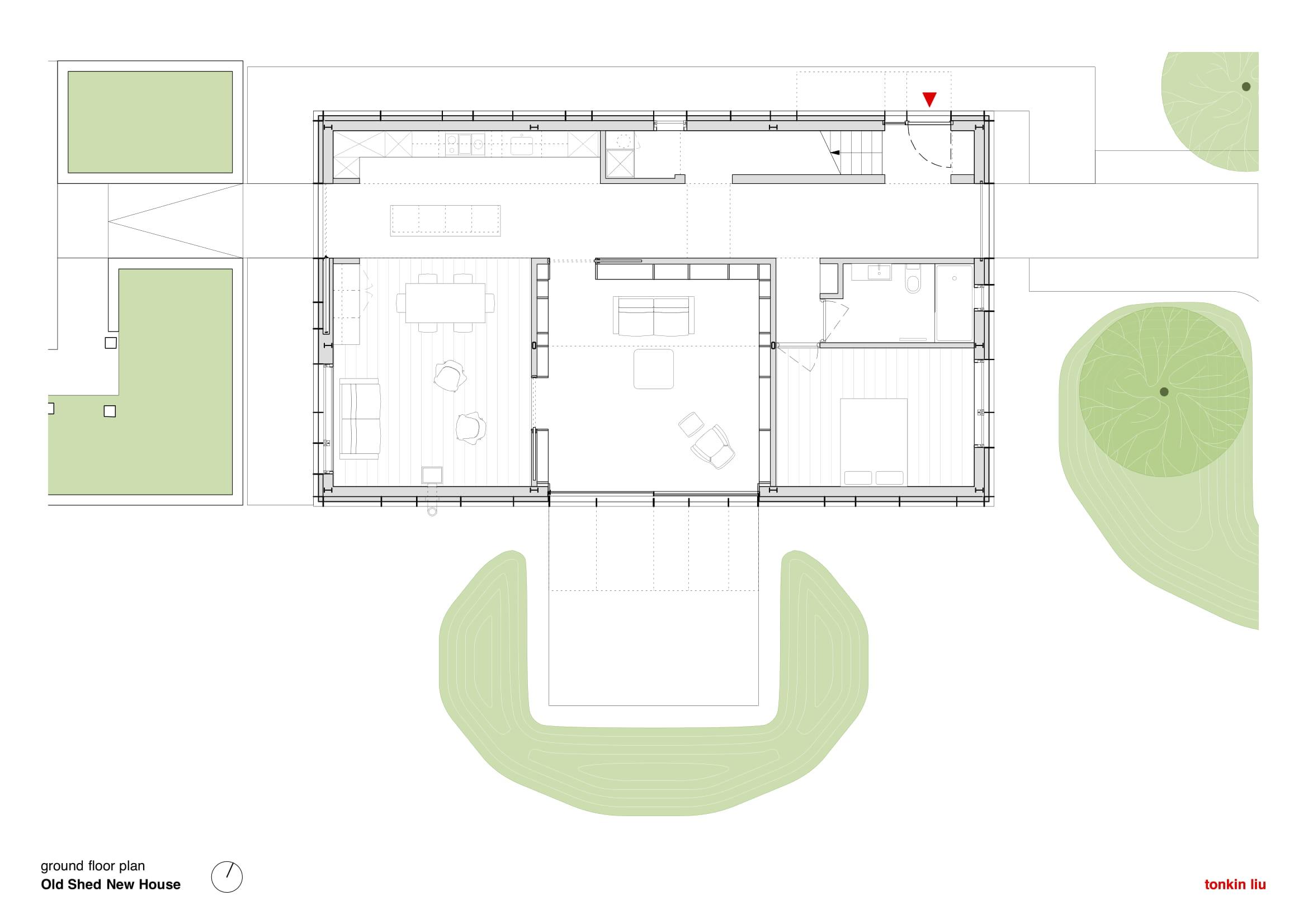Ground Floor Plan Tonkin Liu}