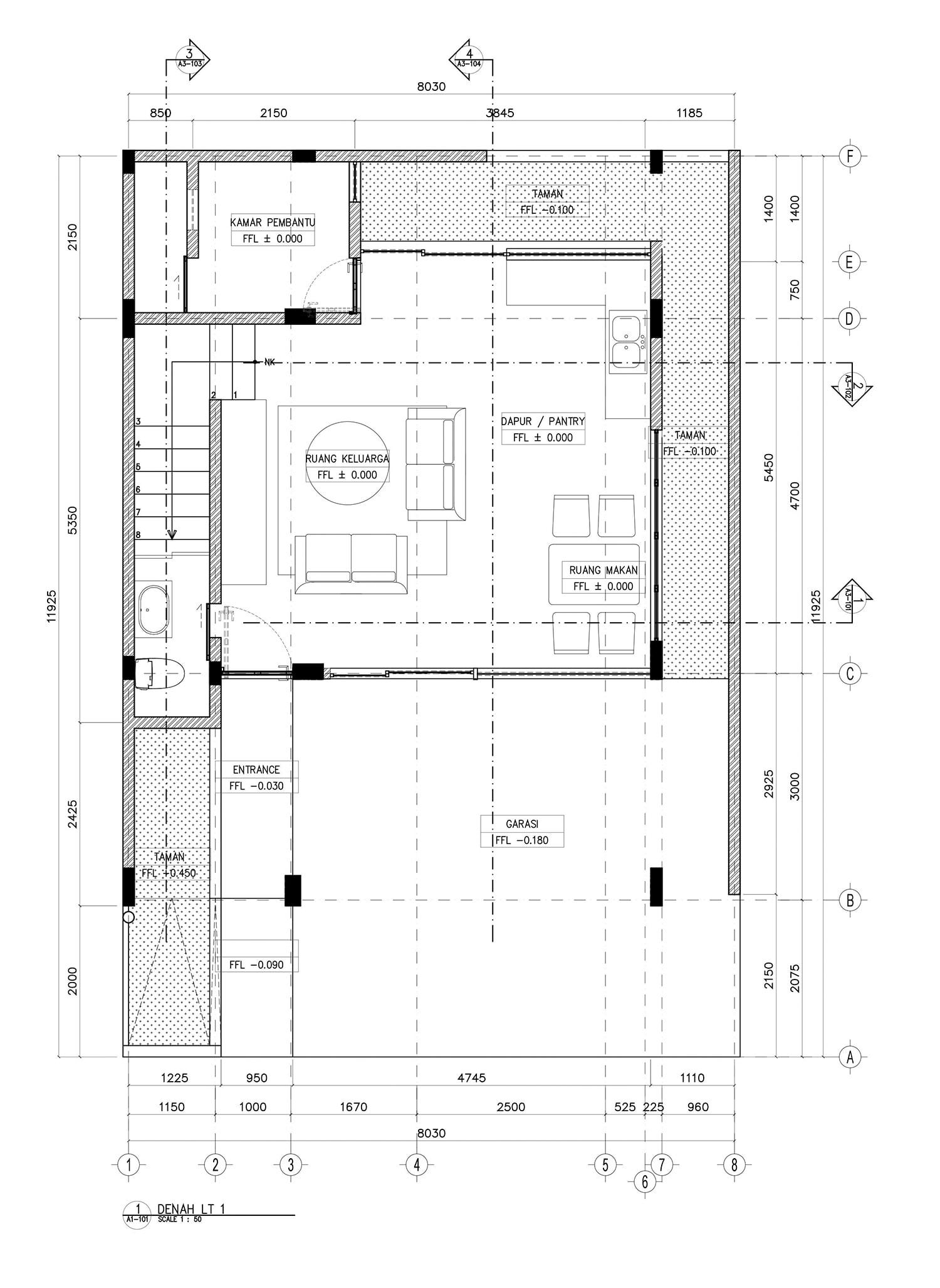 1st floor plan PT Easton Urban Kapital}
