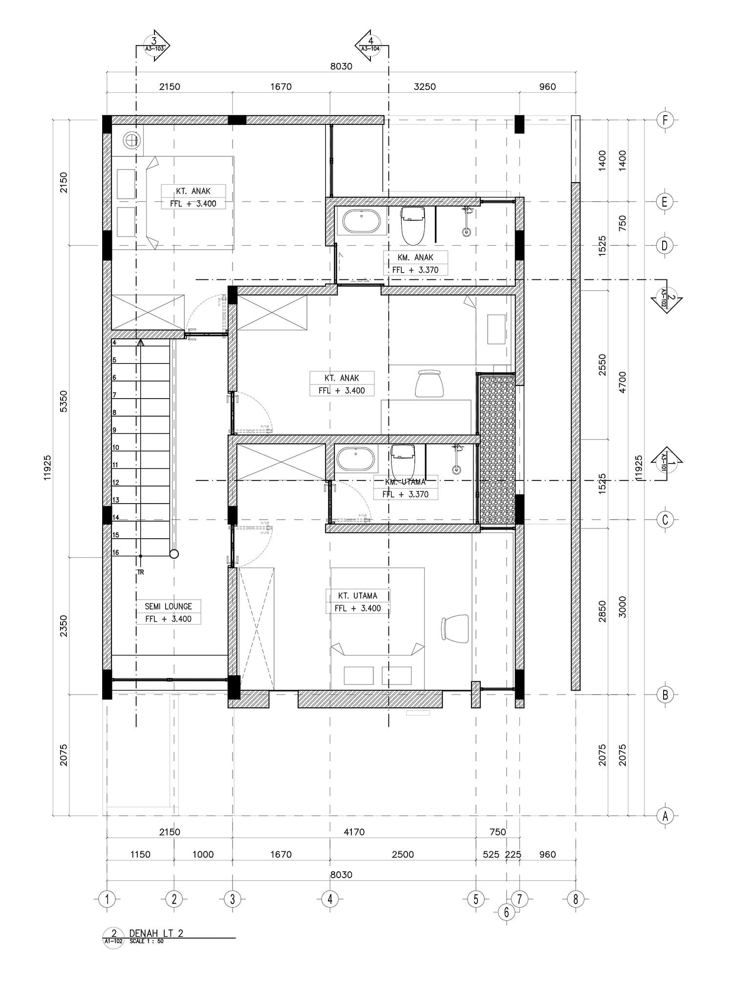 2nd floor plan PT Easton Urban Kapital}