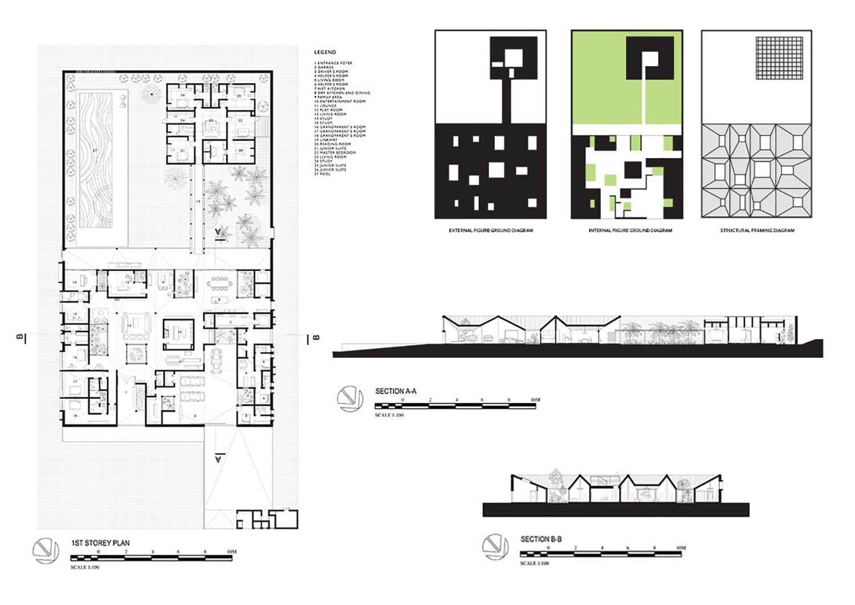 Internal Figure Groun Parti  Diagram Formwerkz Architects}