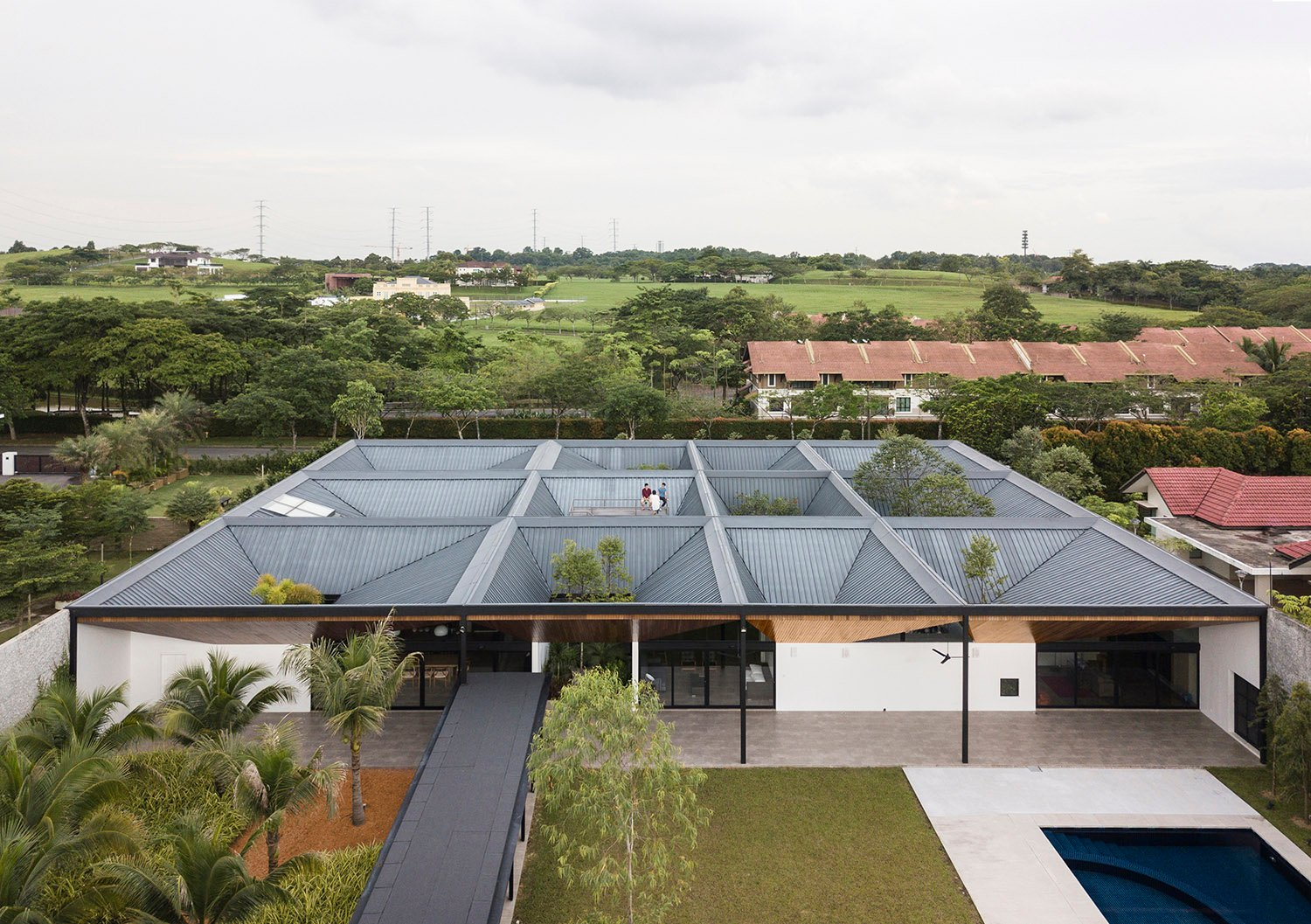 Aerial View of the house. Fabian Ong