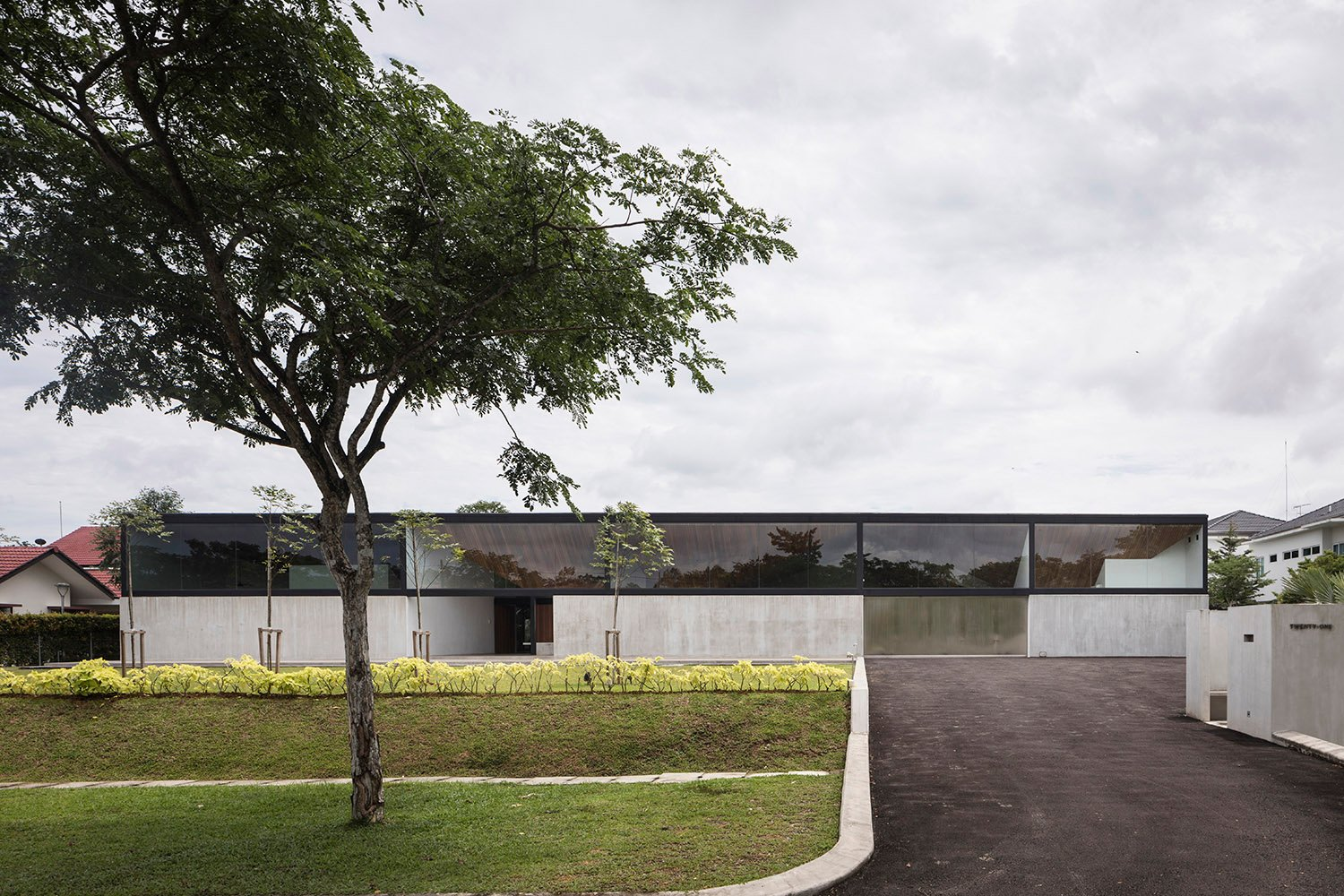 View of the house from the street. Fabian Ong
