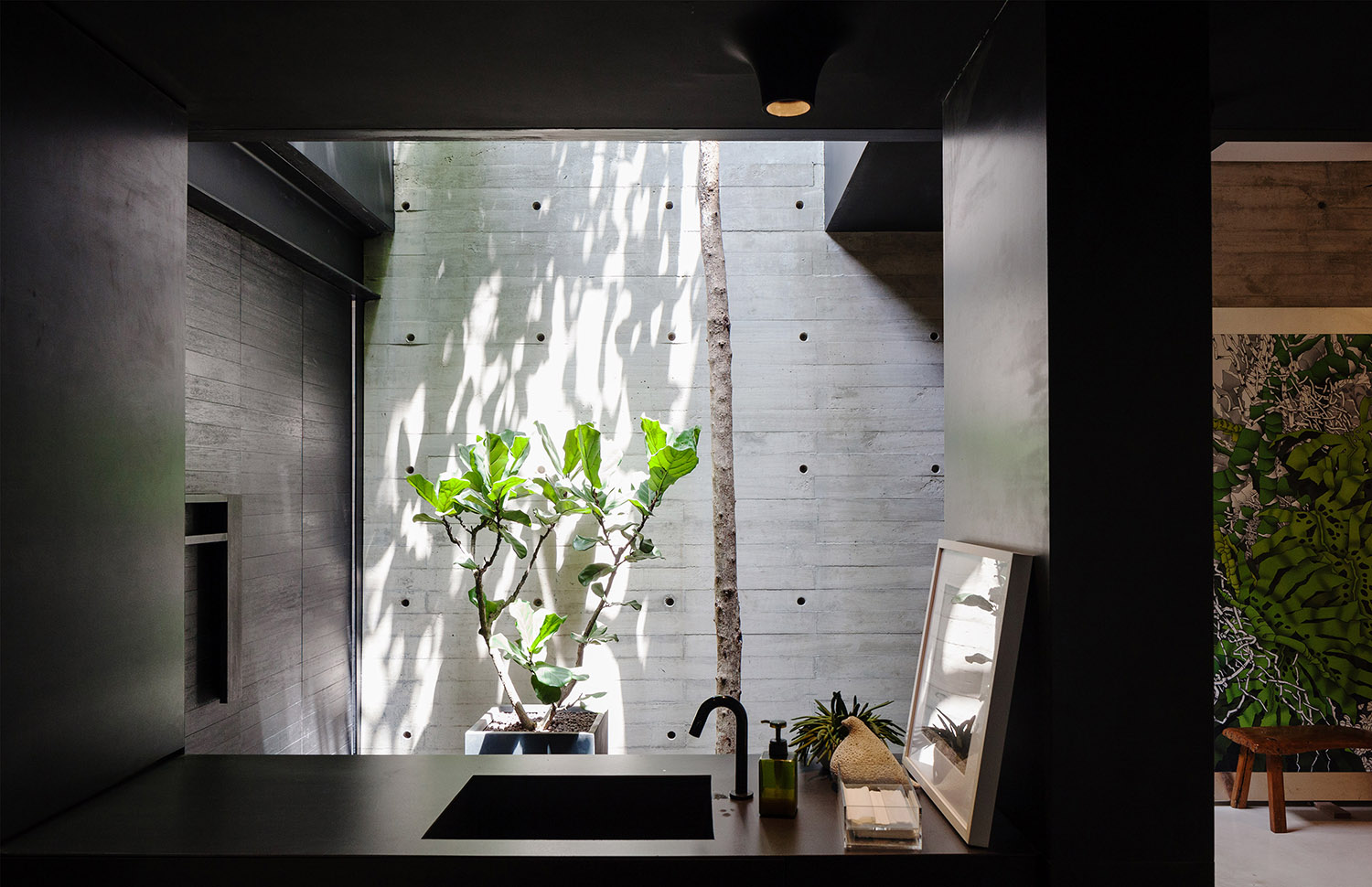 A 10m Memphat tree is planted indoors at the entrance. Fabian Ong