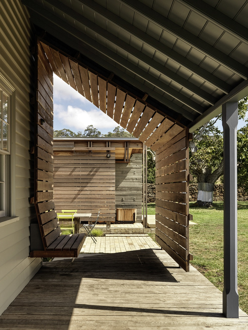 The restored verandah is updated with sheltered seating Trevor Mein