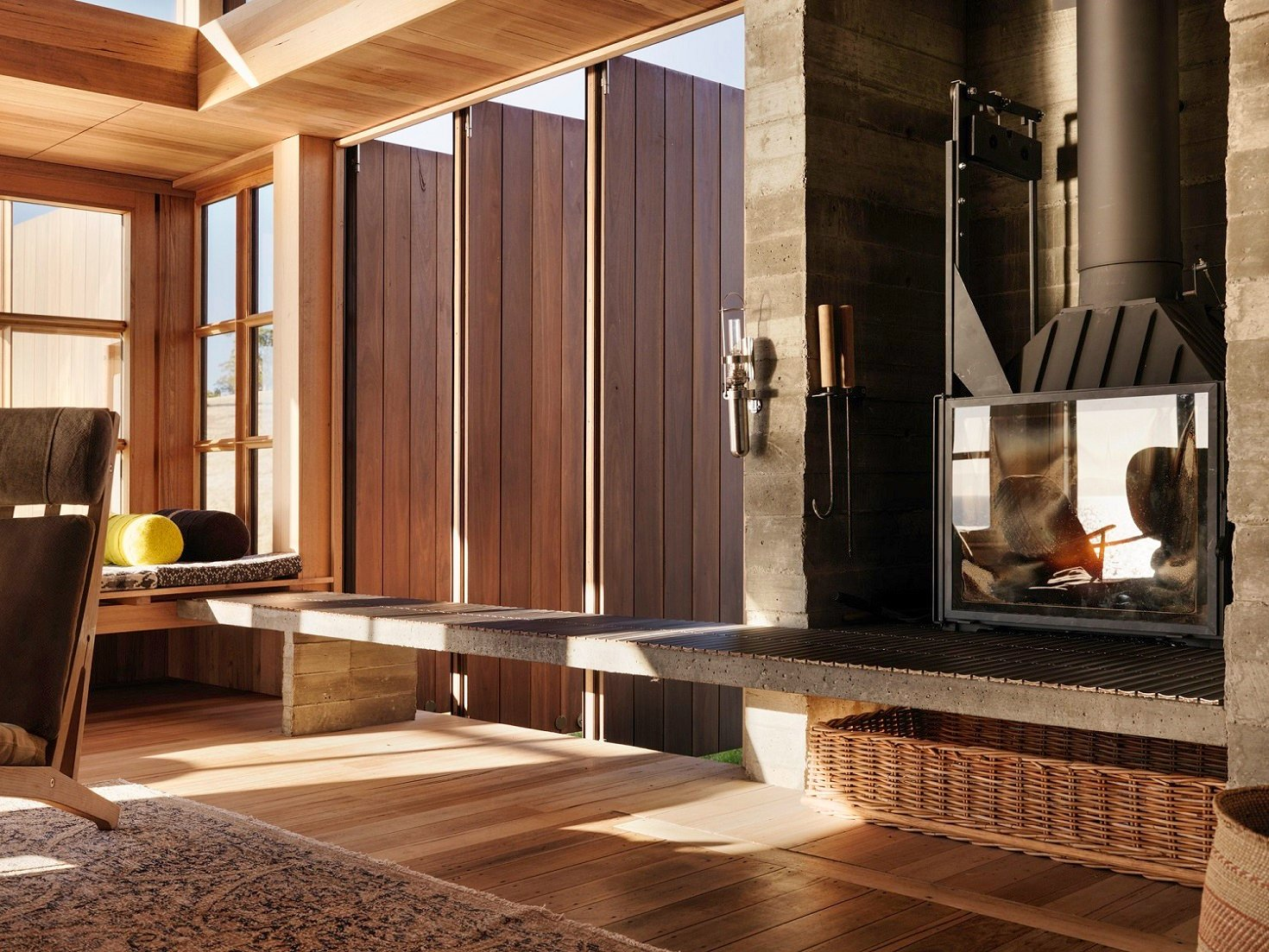 Shuttered windows allow the space to be responsive to weather and habitation Trevor Mein