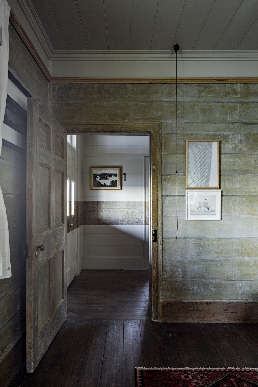Original paint has been unearthed in some spaces and used as inspiration in others Trevor Mein