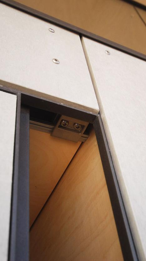 Connection between barestone walls and barestone sliding door RAAarchitects}