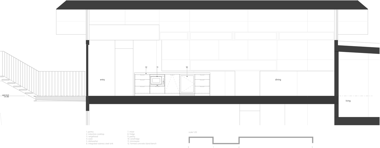 1:20 kitchen island benchtop elevation RAAarchitects}