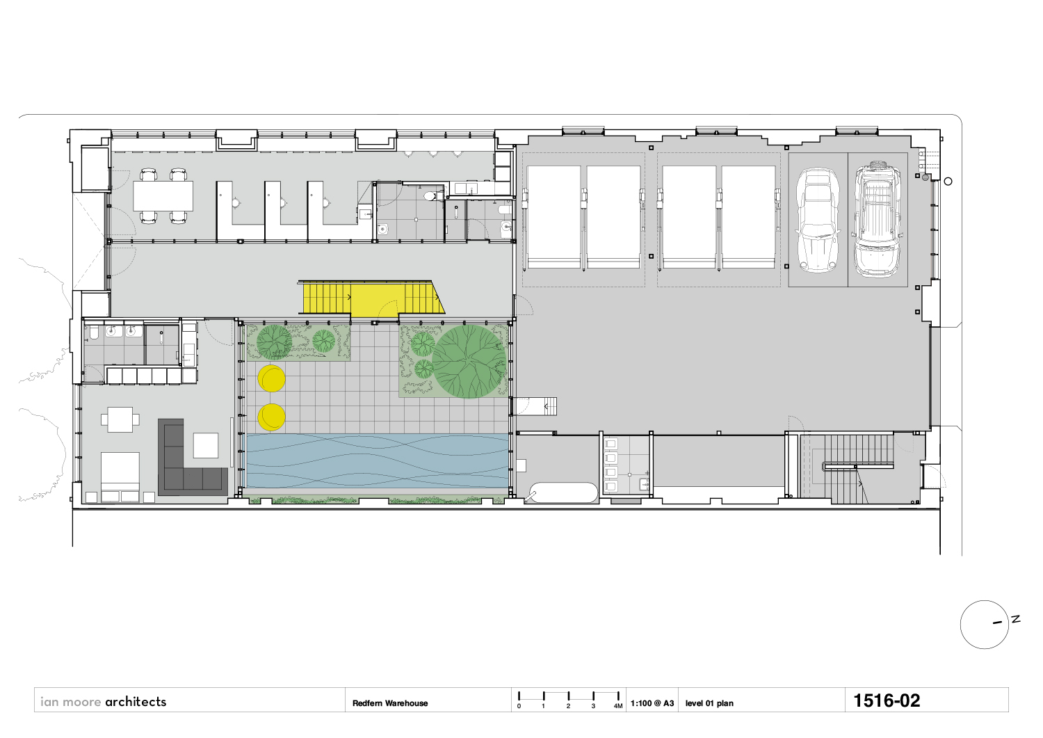 level 01 plan Ian Moore Architects}