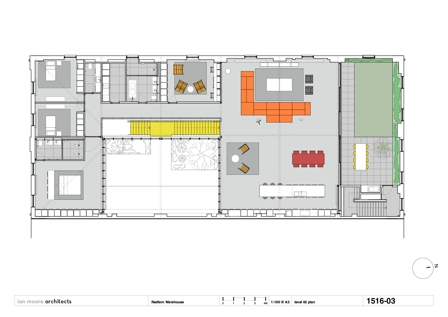 level 02 plan Ian Moore Architects}