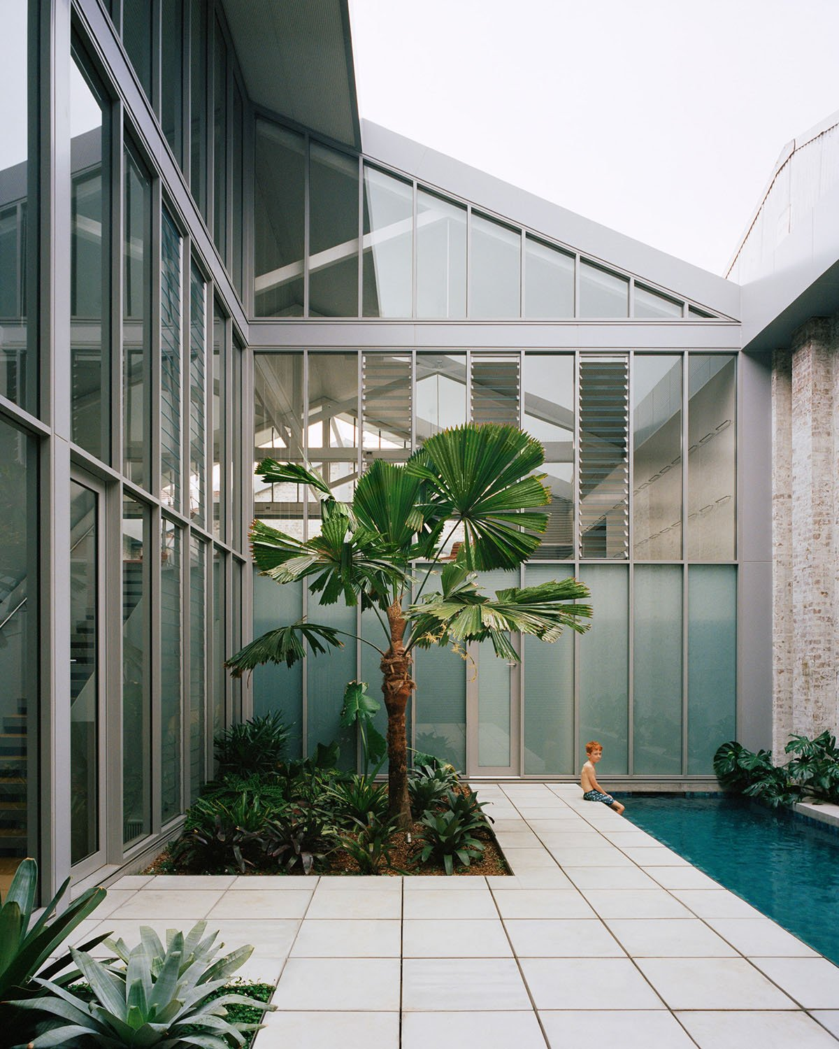 Internal courtyard with pool Rory Gardiner