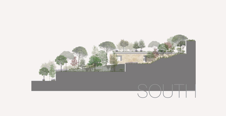 South Elevation Domaine Public Architects}