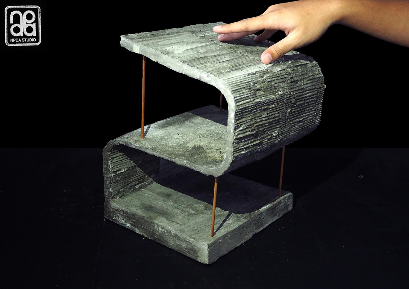 Concrete Model Surface & Structure Experiment NPDAstudio}