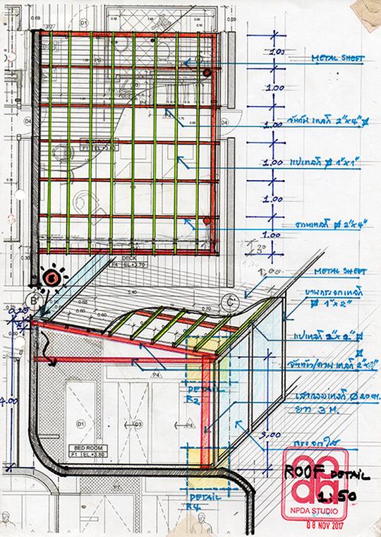 Detail : Roof Structure NPDAstudio}