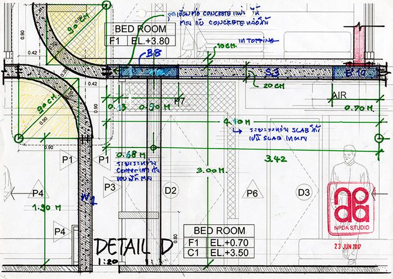 Detail : Curve & Beam Concrete Slab Structure NPDAstudio}