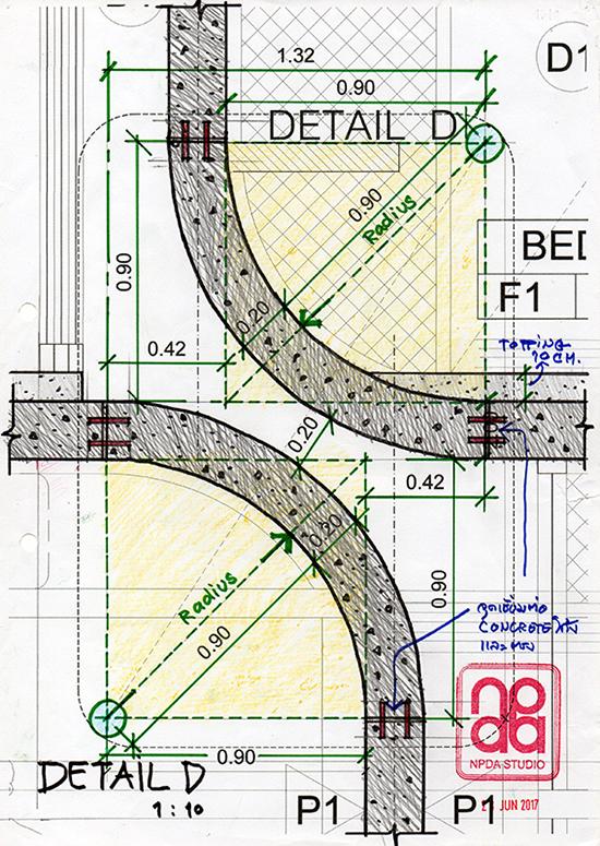 Detail : Curve Concrete Structure NPDAstudio}