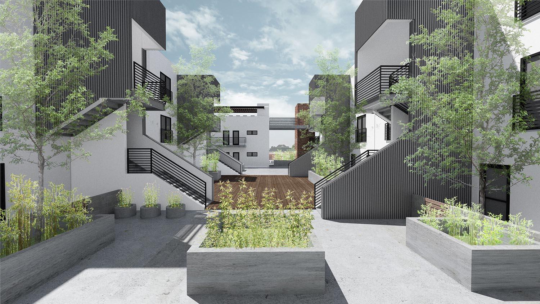Courtyard Central View Studio Antares A +E
