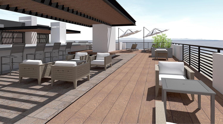 Terrace Ocean View Studio Antares A +E