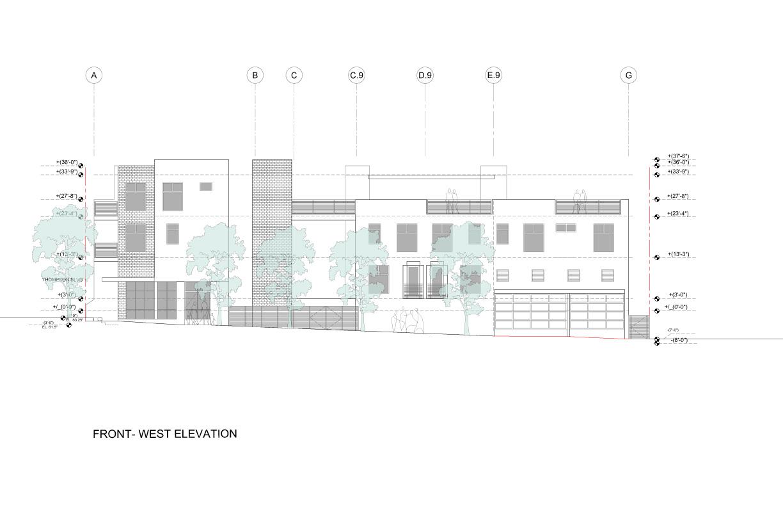 West Elevation Studio Antares A +E}