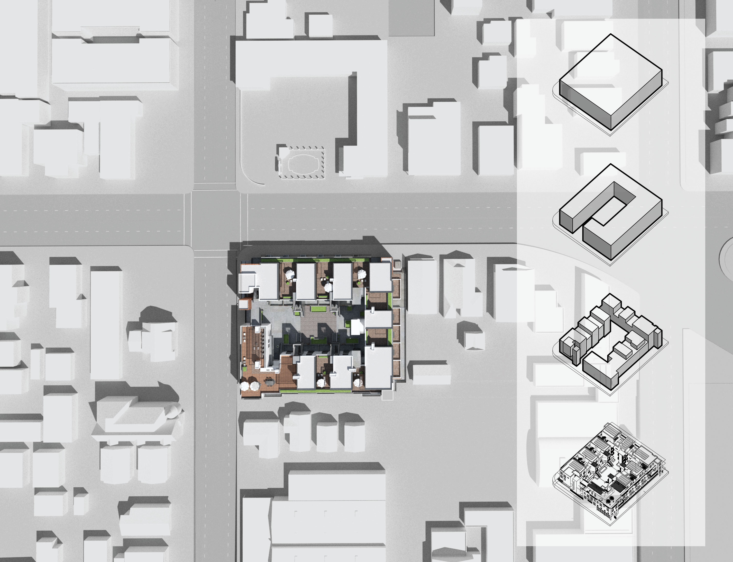 Massing and Scale Diagram Studio Antares A +E}