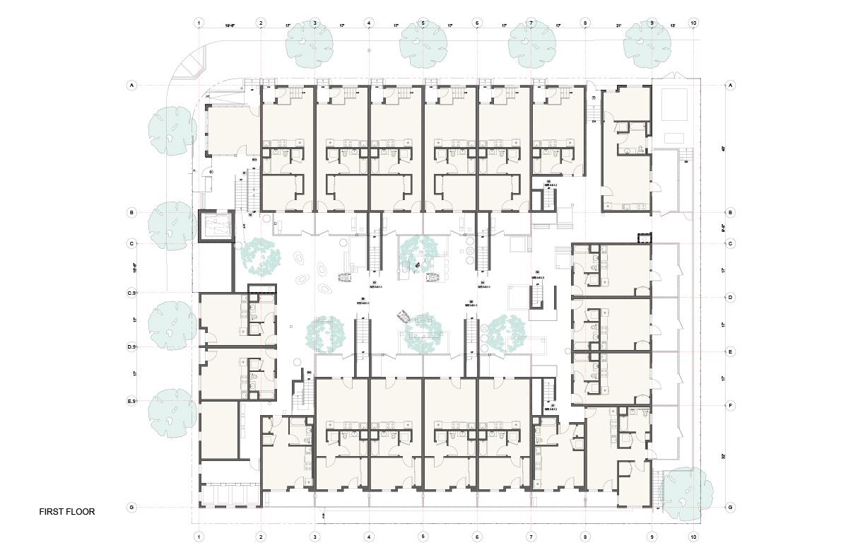 Plan Ground Floor Studio Antares A +E}