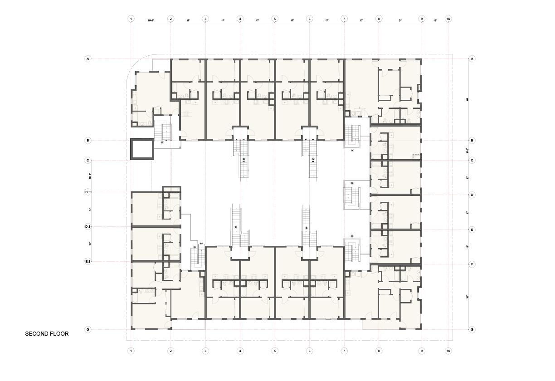 Plan Second Floor Studio Antares A +E}