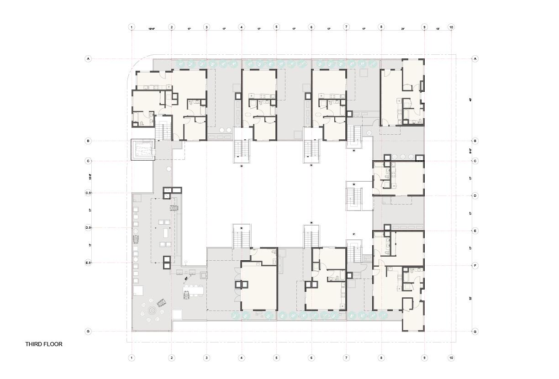 Plan Third Floor Studio Antares A +E}