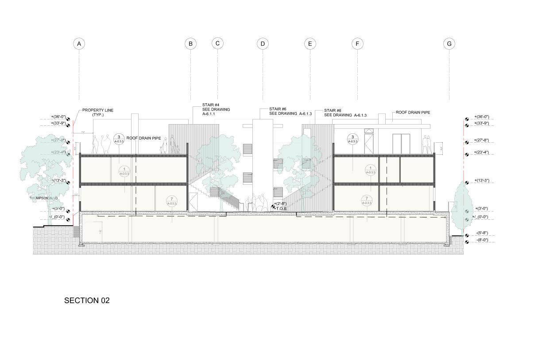 Section through roof terrace Studio Antares A +E}