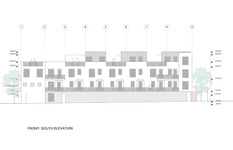 South Elevation Studio Antares A +E}