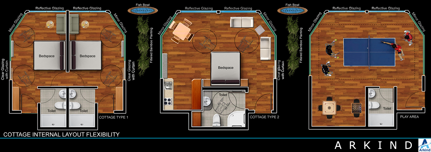 Cottage Internal Layout Flexibility Arkind}