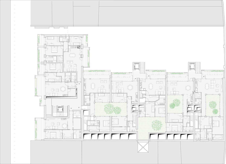 Planimetria generale piano primo DC10 Architects}