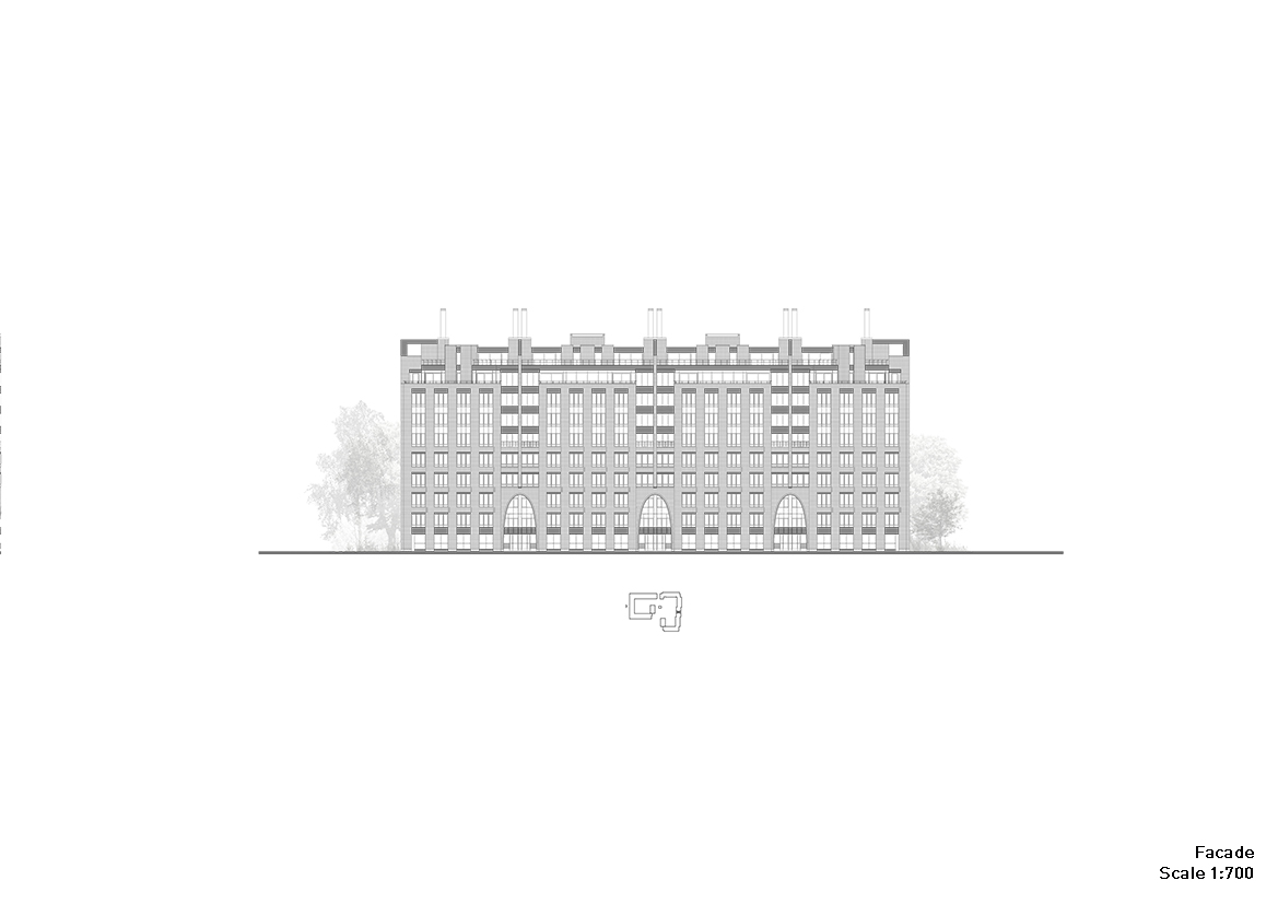 Residential complex: embankment facade Grigoryev and partners}