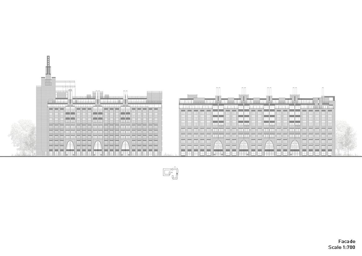 Residential complex: avenue facade #1 Grigoryev and partners}
