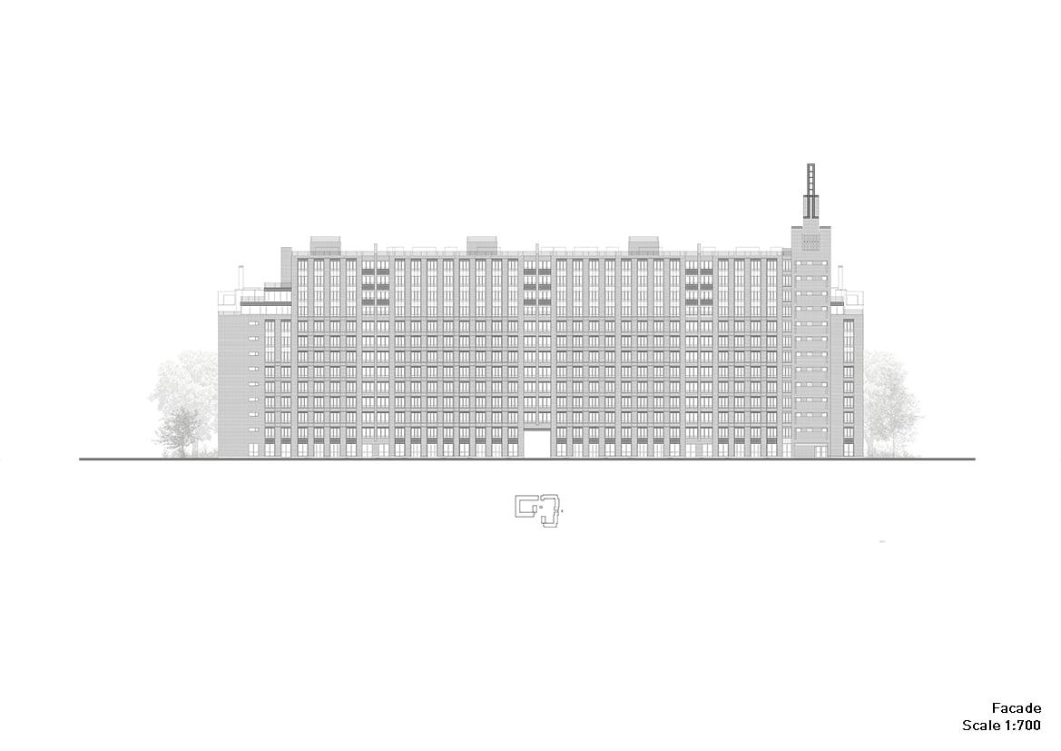 Residential complex: avenue facade #2 Grigoryev and partners}