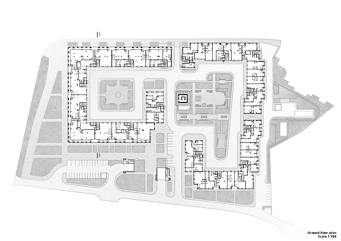 Residential complex: ground floor plan Grigoryev and partners}