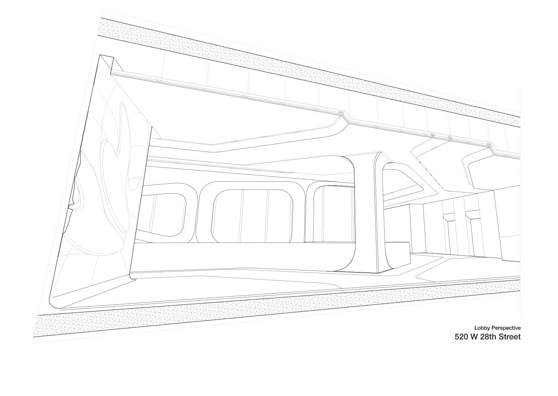 Lobby Perspective Zaha Hadid Architects}