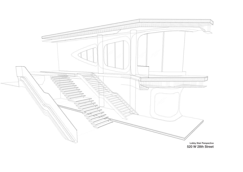 Lobby Stair Perspective Zaha Hadid Architects}
