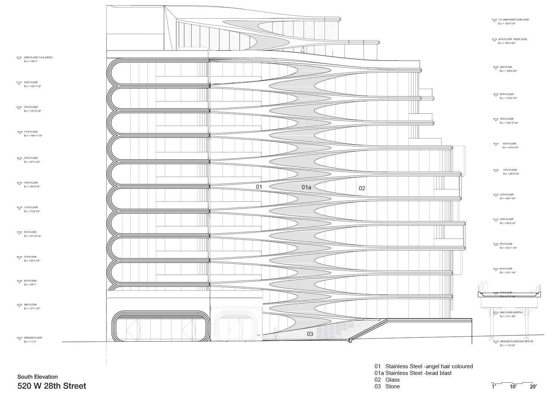 South Elevation Zaha Hadid Architects}