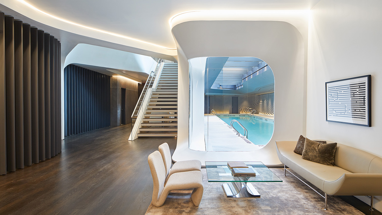 Interior view of pool Photograph by Hufton + Crow