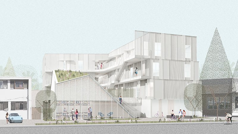 MLK1101 Supportive Housing Rendering Lorcan O'Herlihy Architects [LOHA]}
