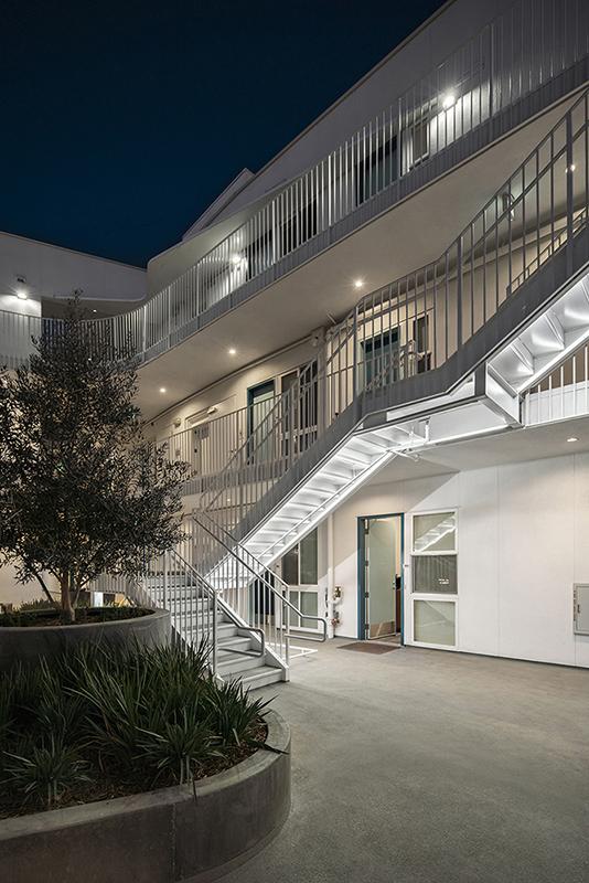 MLK1101 Supportive Housing Interior Courtyard Paul Vu