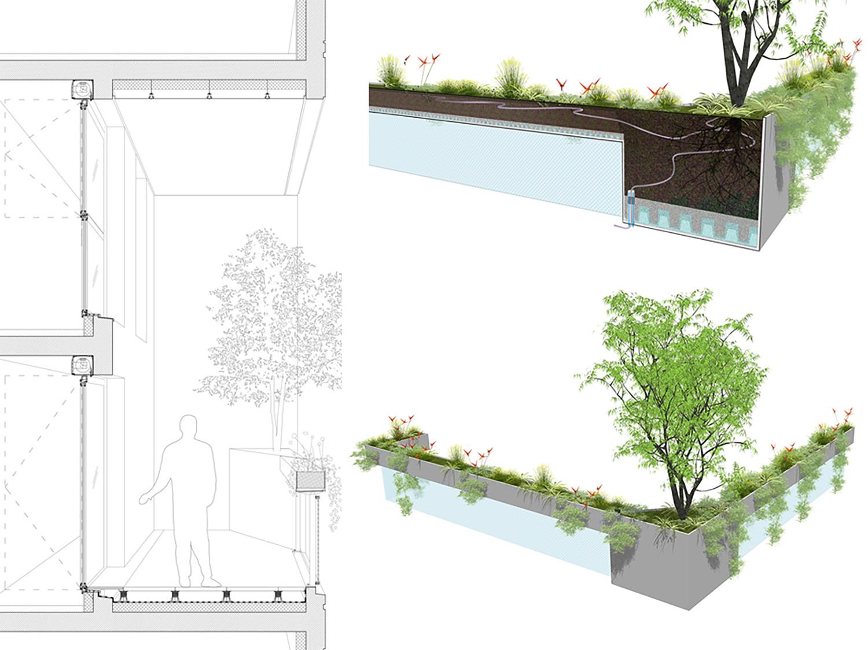 PETITDIDIERPRIOUX Architectes - 152 Housing units in Villeurbanne - Balconies details PETITDIDIERPRIOUX Architectes}
